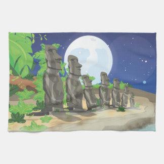 Easter Island Moai Kitchen Towel