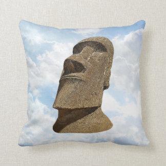 Easter Island Moai - Polyester Throw Pillow