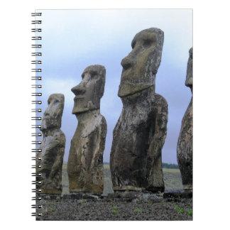 Easter-Island Spiral Notebook