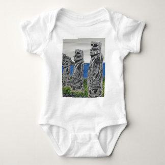 Easter Island Stone Men Baby Bodysuit
