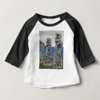 Easter Island Stone Men Baby T-Shirt
