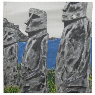 Easter Island Stone Men Napkin