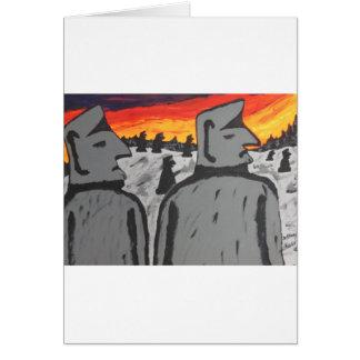 Easter Island Sunrise Card