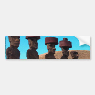 EASTER ISLAND TALKING HEADS BUMPER STICKER