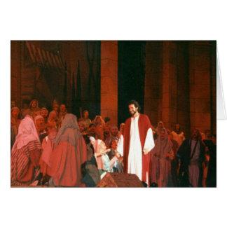 Easter Jesus Christ Risen Saviour Greeting Card
