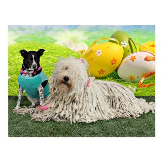 Easter - Komondor - Zoey - Basenji X - Jasper Postcard