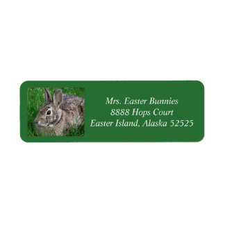 Easter label 5 2017 return address label
