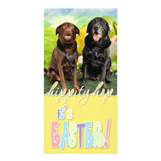 Easter - Labrador - Jack and Diane Photo Card