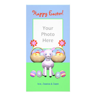 Easter Lamb and Eggs Photo Card