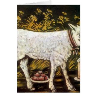 Easter lamb by Niko Pirosmani Greeting Cards
