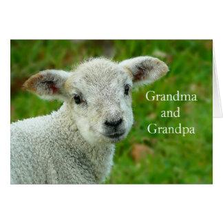 Easter Lamb Grandparents Greeting Card