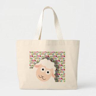 Easter lamb large tote bag