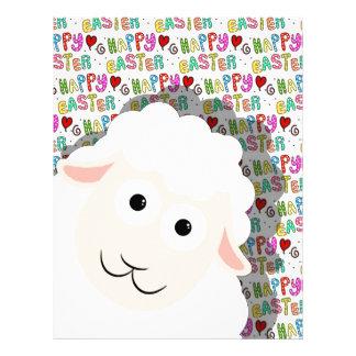 Easter lamb letterhead design