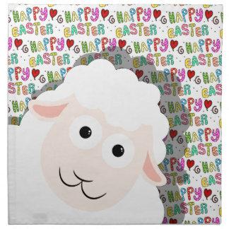 Easter lamb napkin