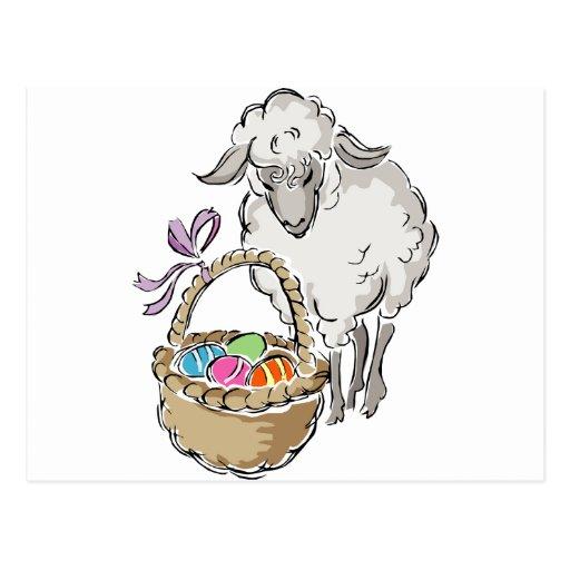 Easter Lamb Postcards