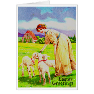 Easter Lambs Greeting Card