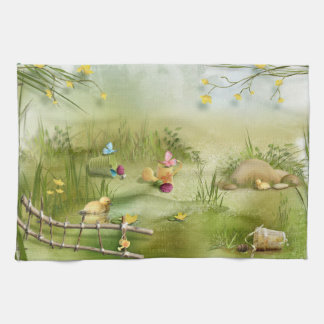 Easter Landscape Kitchen Towel