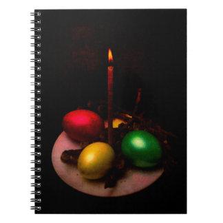 Easter Light Spiral Note Book
