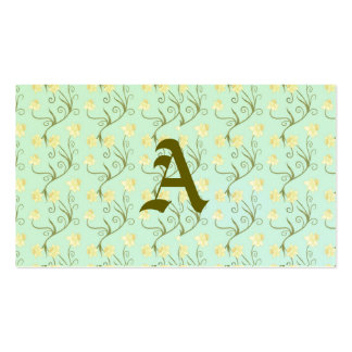 Easter lilies,art nouveau,trendy,pattern,mint,fun, pack of standard business cards
