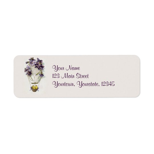 Easter Lilies Balloon Vintage Address Labels
