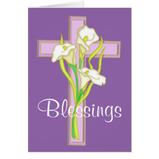 Easter Lily Blessings Card