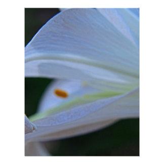 Easter Lily Custom Letterhead