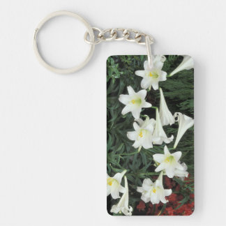 Easter Lily (Lilium regale) Double-Sided Rectangular Acrylic Keychain