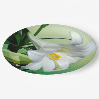 Easter Lily Paper Plate