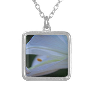 Easter Lily Silver Plated Necklace