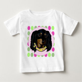Easter Long Haired Black Dachshund Baby T-Shirt