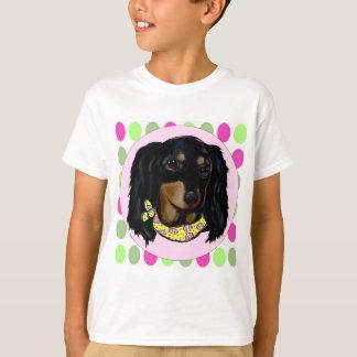 Easter Long Haired Black Dachshund T-Shirt