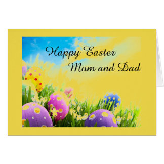 EASTER LOVE TO MY ***MOM AND DAD*** CARD