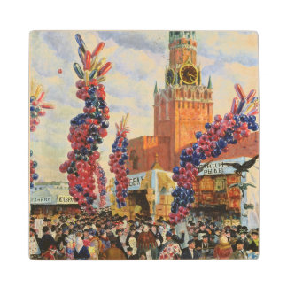 Easter Market at the Moscow Kremlin, 1917 Wood Coaster