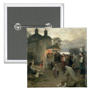 Easter Matins 2 Inch Square Button