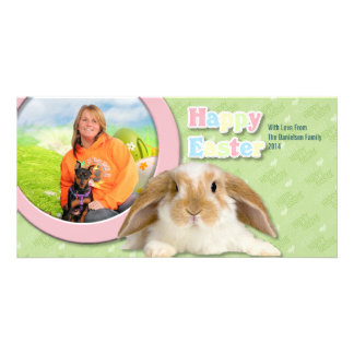 Easter - Min Pin - Zena and Gidget Photo Card Template