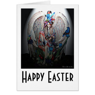 Easter Morning Angel Greeting Card