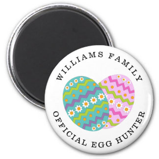 Easter Official Egg Hunter Add Family Name Magnet