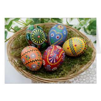 Easter only time ok to put eggs in one basket card