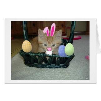 Easter Orange Tabby Kitty Cat Card