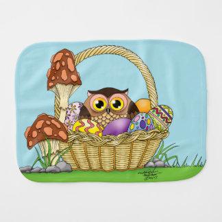 Easter Owl Baby Burp Cloths