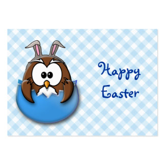 Easter owl - blue large business card