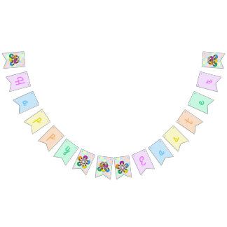 Easter owl - bunting banner