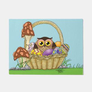Easter Owl Doormat