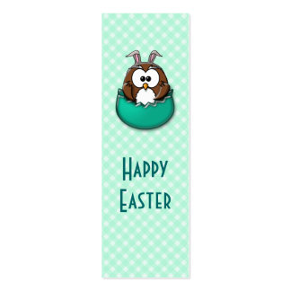Easter owl - green business card templates