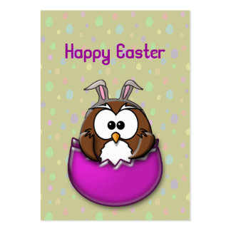 Easter owl large business card