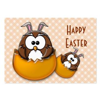 Easter owl - orange large business card