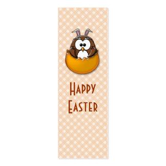 Easter owl - orange mini business card