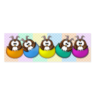 Easter owl - rainbow Double-Sided mini business cards (Pack of 20)