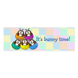 Easter owl - rainbow pack of skinny business cards