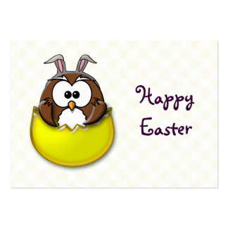 Easter owl - yellow large business card